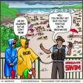 McGinger Comic: Hangover Beach Swim