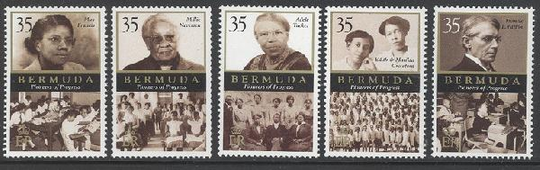 bermuda stamps pioneers of progress
