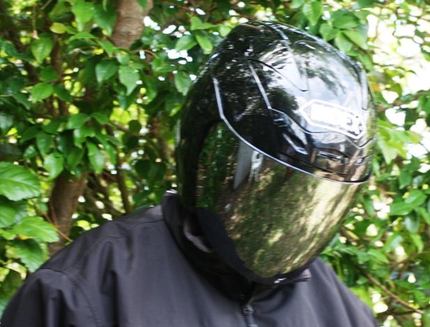 bermuda helmet with dark visor