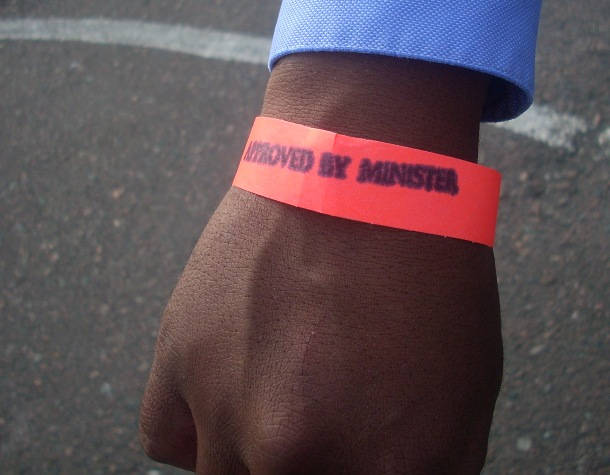 minister approved wristbands