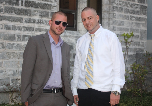 Colin Harper [Collie Buddz] on left, Matthew Harper on right