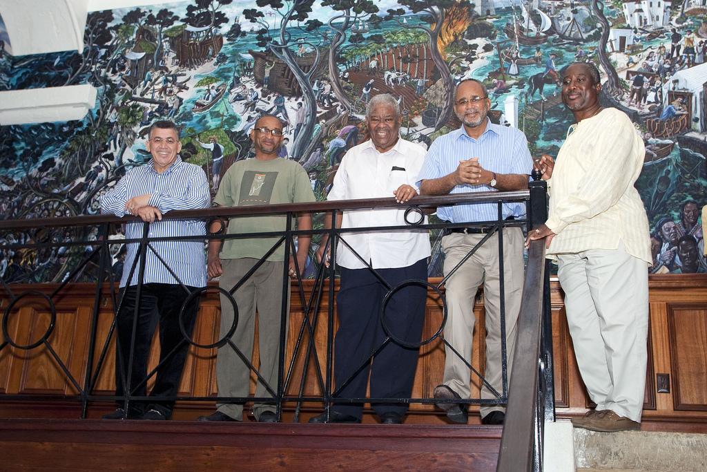 Graham foster bermuda artist bio for Bank ballroom with beautiful mural nyc