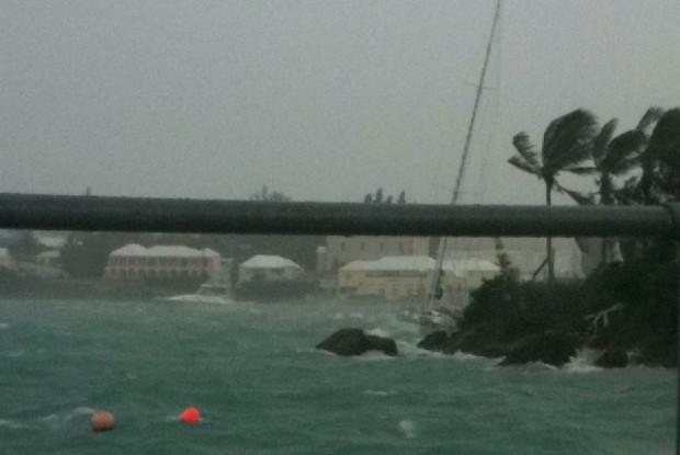 .big sailboat on rocks Mangrove bay