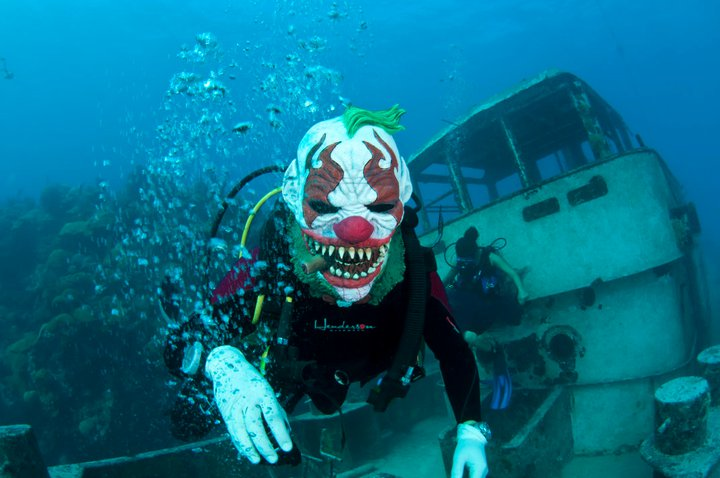 Photos Underwater Fancy Dress Halloween Dive Bernews