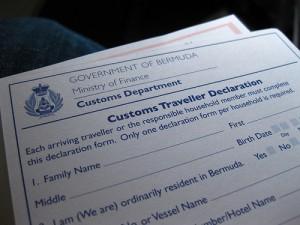 bermuda customs form