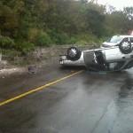 car overturned 2