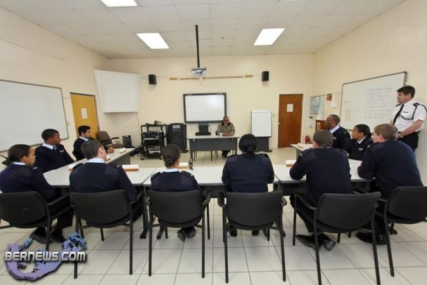 Senator the Hon. David Burch Police Recruitment Class Bermuda Feb 17th 2011-1