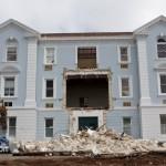 Demolition Old Hospital Building Paget Bermuda Mar 10th 2011-1