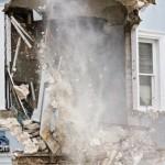Demolition Old Hospital Building Paget Bermuda Mar 10th 2011-1-21