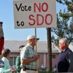 SDO Protest Cabinet Grounds Bermuda Mar 18th 2011-1-2