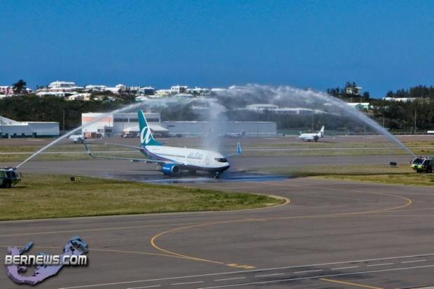 Airtran Inaugural Flight LF Wade International Airport  Bermuda April 7 2011-1