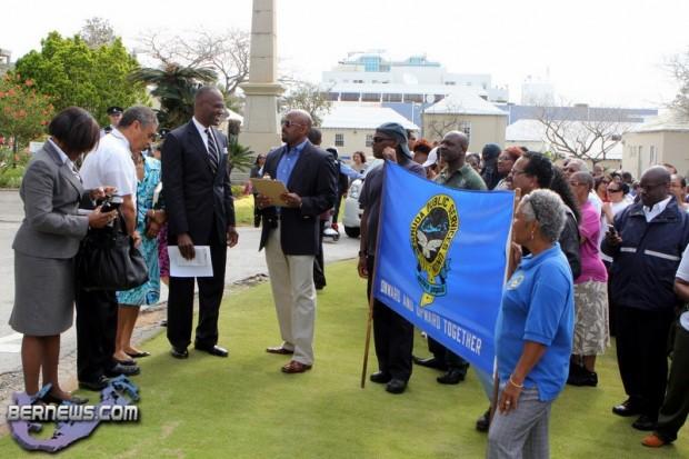 BPSU March On Cabinet Bermuda April 26 2011-2