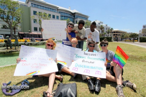 Rally Against Discrimination Gay & Lesbian Rights Bermuda May 25 2011-8