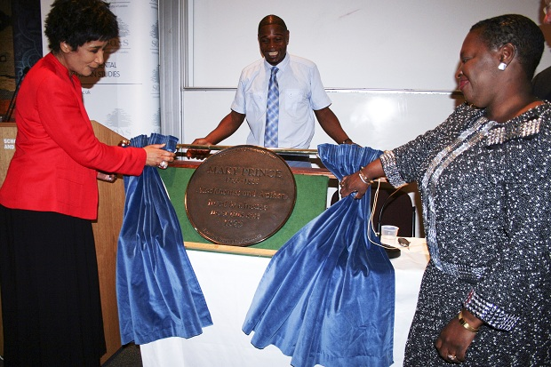 Unveiling Mary Prince Plaque
