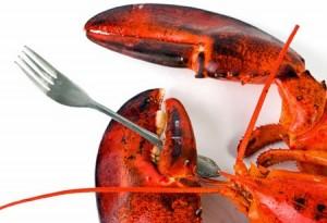 lobster fork eat