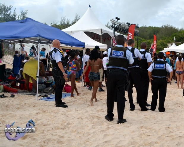 police on beach july 28 2011