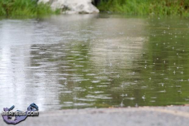 Weather Puddle Rain Drops Bermuda August 2 2011-1