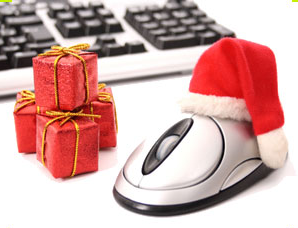 Online christmas shopping generic computer