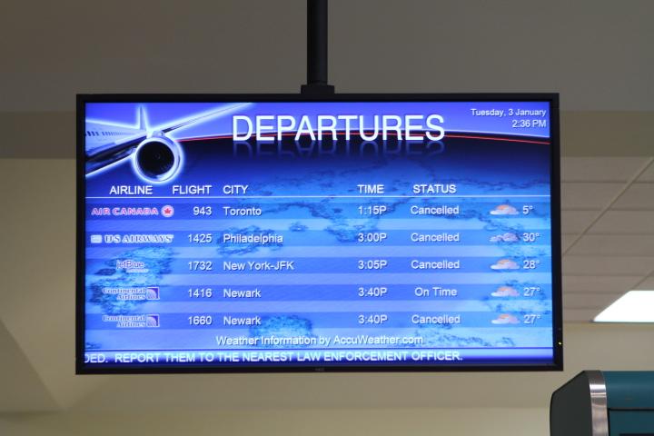 Winds Cause Flight Cancellations - Bernews