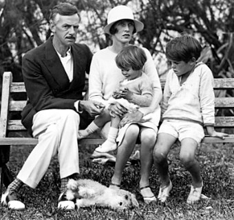 Eugene O'Neill With Wife Agnes, Daughter Oona And Son Shane At ...
