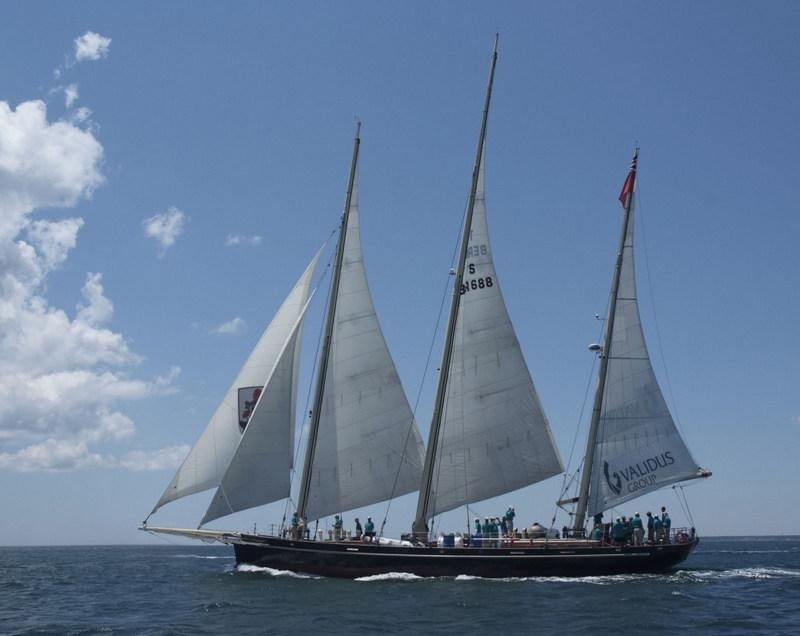 The Bermudian 3-masted sail training schooner Spirit of