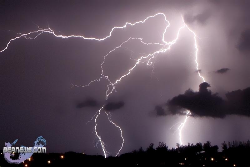 Bermuda Photos: Lightning Lights Up The Night Sky St David's Storm Clouds Lightning Tornado