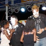 Zane DeSilva and Vejay Steede Pie in Face, Harbour Nights, Bermuda September 5 2012 (1)