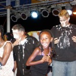 Zane DeSilva and Vejay Steede Pie in Face, Harbour Nights, Bermuda September 5 2012 (2)