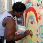 "Chewstick ""Peace"" Mural Painting Bermuda, December 1 2012 (11)"