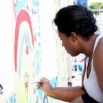 "Chewstick ""Peace"" Mural Painting Bermuda, December 1 2012 (5)"
