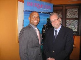 Minister Crockwell with U.S. television and radio host Peter Greenberg in New York
