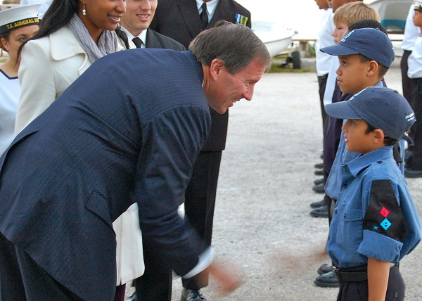 Minister Dunkley inspects the Junior Cadets