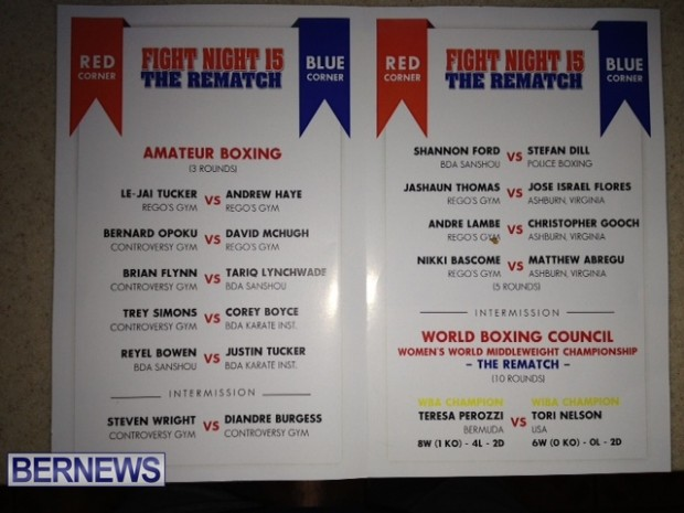 fight night programme 2