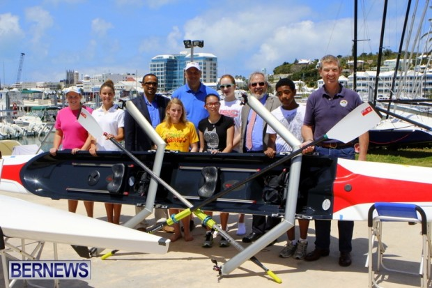 Sir Steve Redgrave Minister Wayne Scott Trevor Moniz Bermuda Rowing RHADC, April 12 2013 (2)