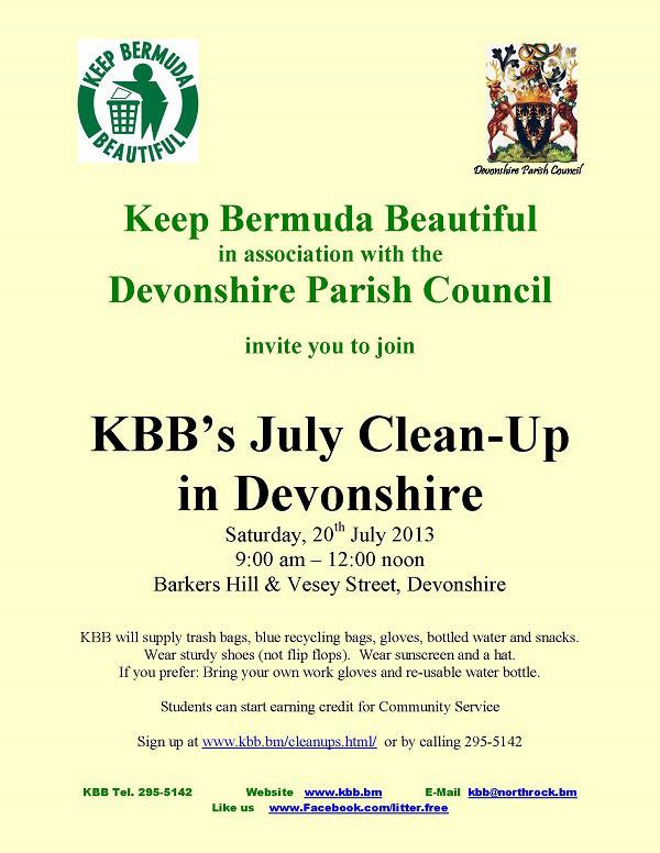 KBB-Cleanup Devonshire Parish Council