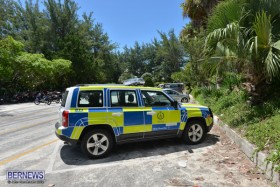 police car Horseshoe Bay Beach