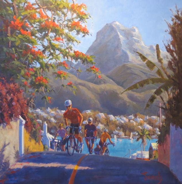 Local Artist Jonah Jones Cycles For Life Bernews