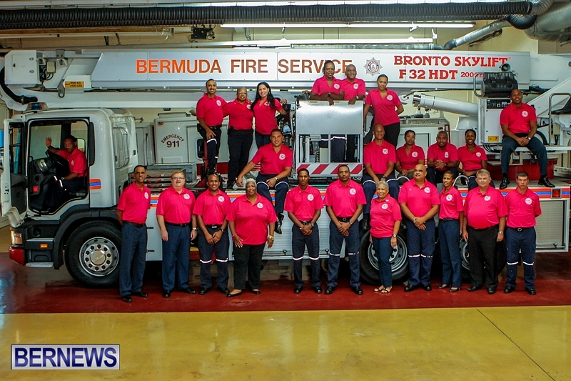 Firefighters Wear Pink To Support Cancer Cause - Bernews.com : Bernews ...