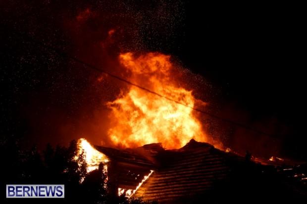 Cedar Avenue Structural Fire Bermuda, October 17, 2013-9