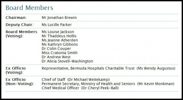 BHB board members screenshot