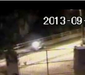 CCTV Image of Motorcycle