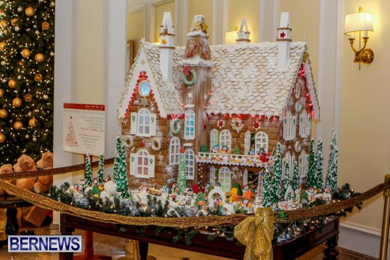 Photos Fairmont S Giant Gingerbread House Bernews