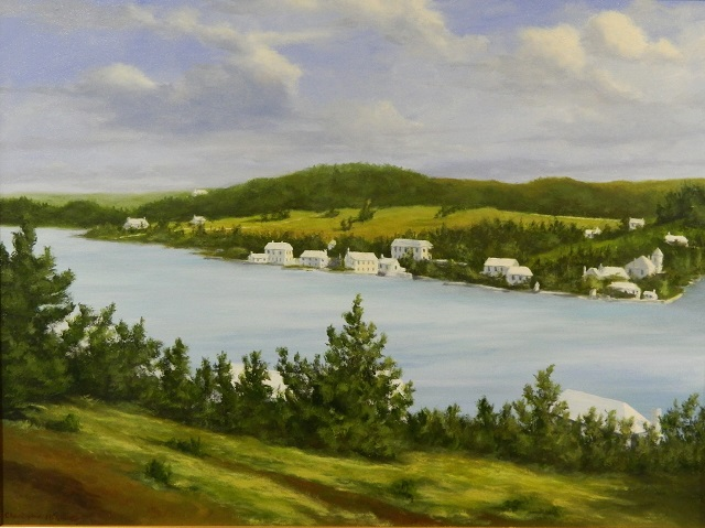 Paget from Fort Hamilton, 1940, Christopher Grimes Oil