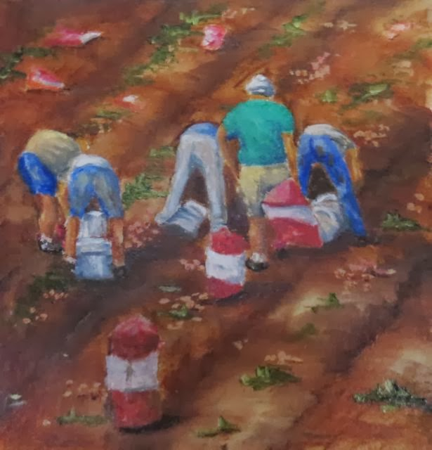 Potato Pickers Heidi Cowen Oil
