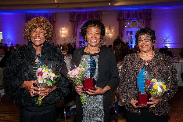 Ruth Elaine Thomas, Shirley Dill, Rev. Betty Furbert- Wooldridge