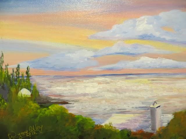 Sunrise over Poccioc Wynne Colley Acrylic