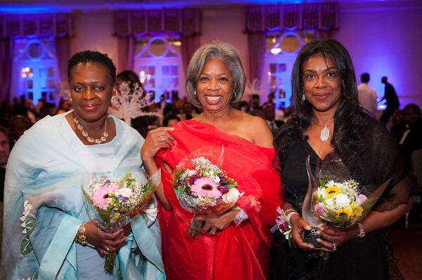 The Hon. Paula Cox,  Dame Jennifer Smith, Dame Pamela Gordon Banks