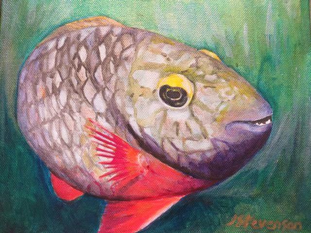 The Parrot Fish Jackie Stevnson Oil