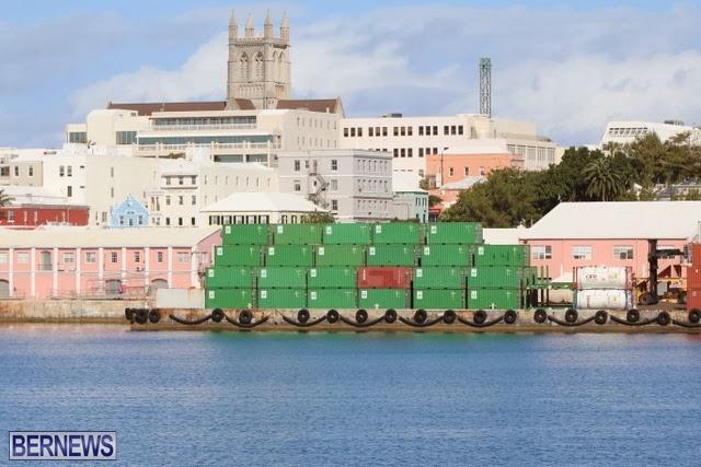 Hamilton docks bermuda generic containers 32432