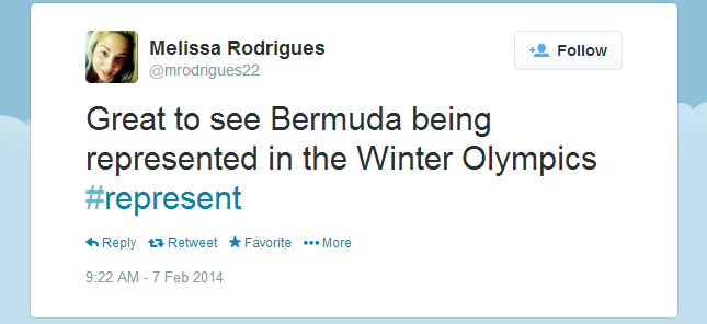 Twitter   mrodrigues22  Great to see Bermuda being ...
